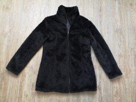 outerwear Veste en fausse fourrure noir