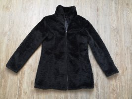 outerwear Chaqueta de piel sintética negro