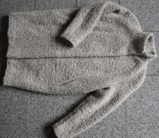 Samsøe & samsøe Abrigo ancho gris claro-crema Lana
