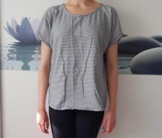 Only Camicia oversize bianco-antracite
