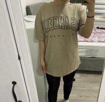 Sheinside Oversized Shirt camel-black