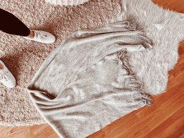 Zara Wełniany szalik jasnoszary-szary