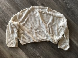 24 colours Knitted Sweater natural white-cream cotton