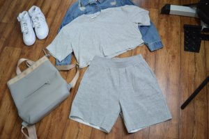 GinaTricot Cropped shirt lichtgrijs-grijs