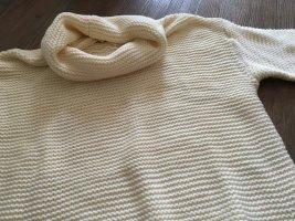 Monki Sweter oversize w kolorze białej wełny