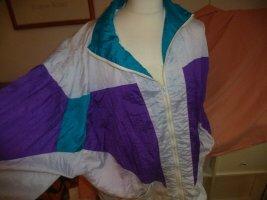 "Oversized Jacke aus den 80 igern, ""Ballonseide"" lilabunt"