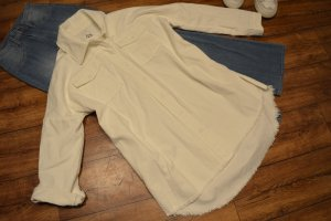 Oversized Jeans Jacke/Hemd ZARA 38 creme/weiss
