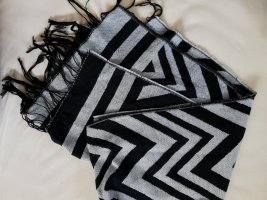 Écharpe en tricot noir-gris clair