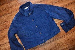 Oversized Short Corduroy Jacket Blau 38 neu Pamela by Nakd