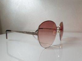 keine Marke Square Glasses gold-colored-brown