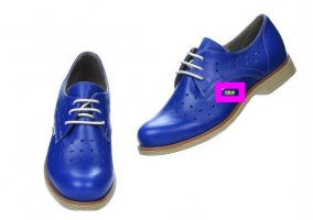 Oxfords blauw Leer