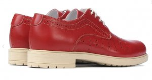 Oxfords rood Leer