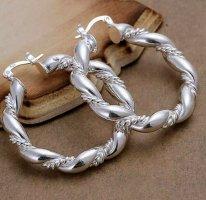 Paar Creolen Hänger Silber 925 Sterling neu Klappverschluss