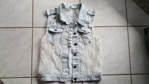 Paccio Denim Vest azure cotton