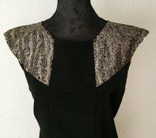 Sequin Dress black-gold-colored mixture fibre