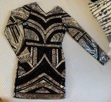 Sequin Dress black-silver-colored