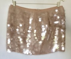H&M Mini rok licht beige Polyester