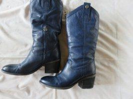 Strenesse Blue Stiefel Leder schwarz Gr. 37 12 NP € 229