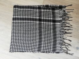 Kefiah nero-bianco Cotone