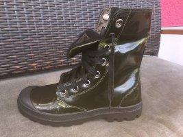 Palladium Leder, dunkelgrün, Größe 37, 5