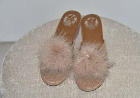 Scuffs beige-dusky pink leather