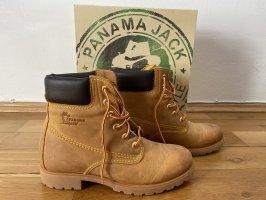 Panama jack Bottes à lacets marron clair cuir