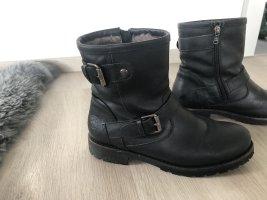 Panama jack Snow Boots black leather
