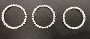 Pandora Bague en argent argenté tissu mixte