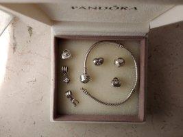 Pandora Dije gris plata verdadero