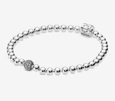 Pandora Zilveren armband zilver-lichtgrijs