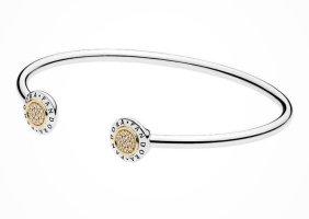 Pandora Casuals Bangle silver-colored-gold-colored