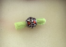 Pandora. Charm , 925er Silber, mit Emaille rot, 2 gleiche vorhanden