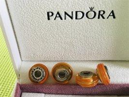Pandora. Charm , Murano Glas, 925er Silber, 4 Stück vorhanden