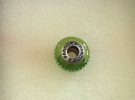Pandora Dije verde hierba plata verdadero