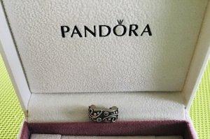 Pandora Clip, Feststeller, 925er Silber mit blauem Zirkonia
