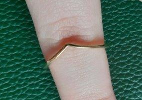 Pandora Polierter Wishbone-Ring  Gold