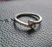 Pandora Two Sparkling Hearts Ring Silber
