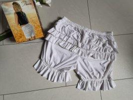 Pantaloon Hose Volant Pluderhose Weiß Pluder