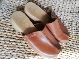 Esprit Heel Pantolettes cognac-coloured