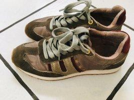 Pantofola d'Oro Acadia Damen Sneaker Gr. 38 oliv Lederapplikation Neuwertig