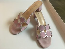 Andrea Puccini Heel Pantolettes light pink-silver-colored