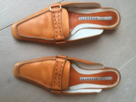 Fratelli rossetti Heel Pantolettes orange leather