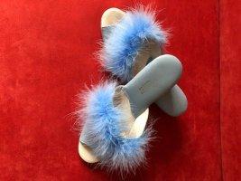 Pantoufles bleu clair-bleu azur