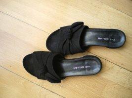 Pantolette The Seller schwarz Gr 40 flacher Absatz