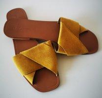 Asos Sabots dark yellow leather