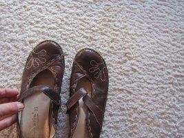 Tamaris Zuecos marrón-blanco Cuero