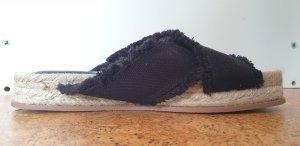 H&M Mule à talon noir-brun sable
