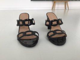 tata italia Heel Pantolettes black mixture fibre