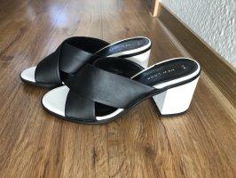 Asos Heel Pantolettes black-white