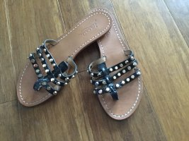 Ioannis Roman Sandals black leather